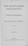 PDF Download of Mayflower Descendant Volume 11 (1909)