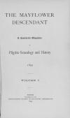 PDF Download of Mayflower Descendant Volume 1 (1899)